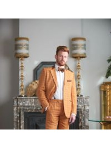 Orange checked suit