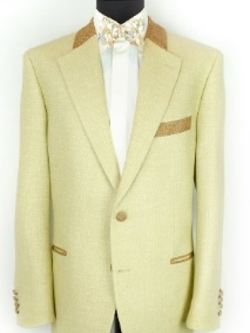 Beige jacket with brown decoration