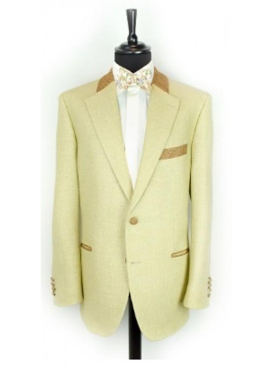 Beige jacket with brown decoration