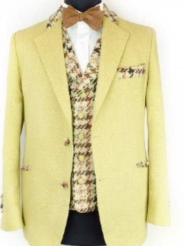 Beige winter jacket with decoration