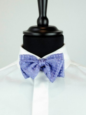 Blue bow tie white motives