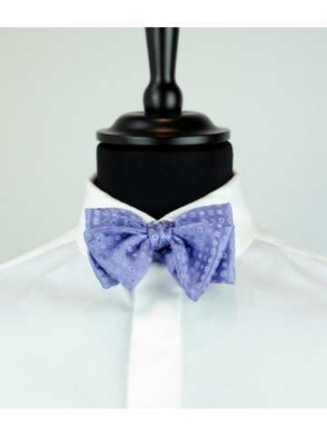 Blue bow tie white motives