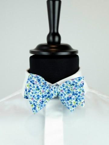 Blue fancy bow tie
