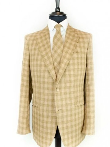 Brown-green checked jacket