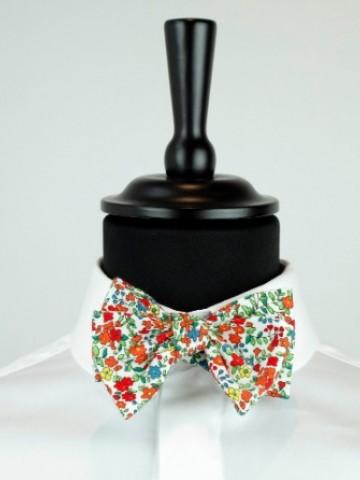 Fancy orange bow tie