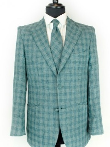 Green checked jacket