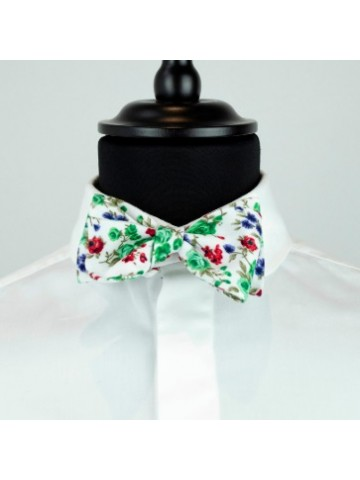Green flower bow tie