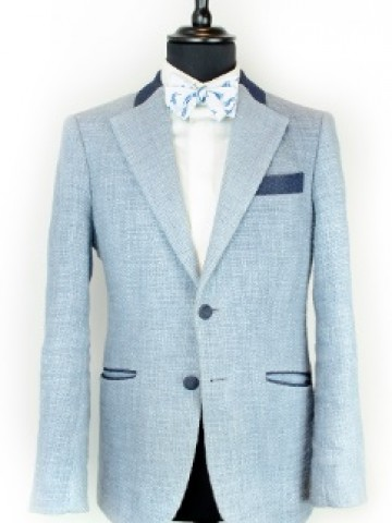 Light blue jacket with navy decoration