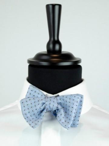 Light blue fancy bow tie