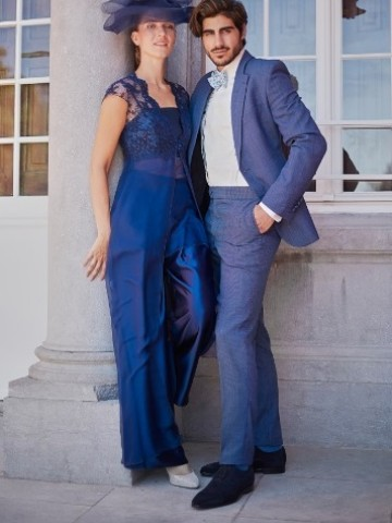 Light blue wedding suit
