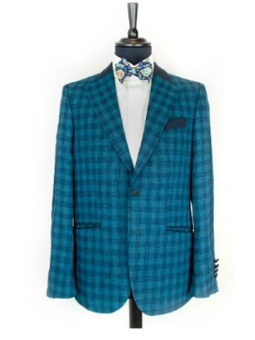 Petrol green checked jacket