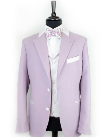 Purple jacket with light blue decoration
