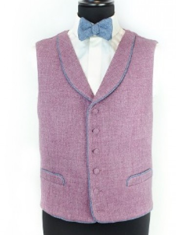 Purple waistcoat with decoration