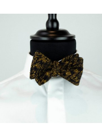 Yellow-black bow tie