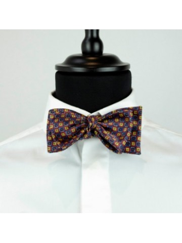 Yellow-blue bow tie