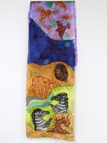 Hand painted scarf Nature
