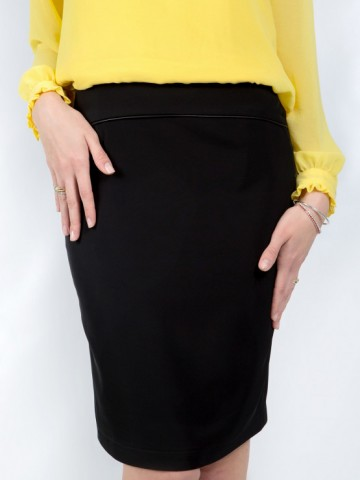 Women's black office skirt - Ester