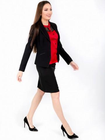 Women's black office skirt - Ester