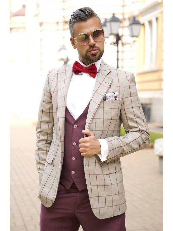 Grey checked jacket