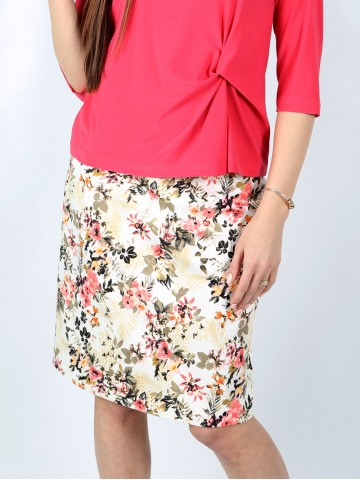 Classic floral office skirt