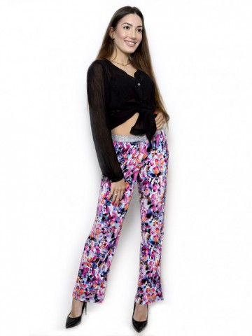 Colorful silk pants