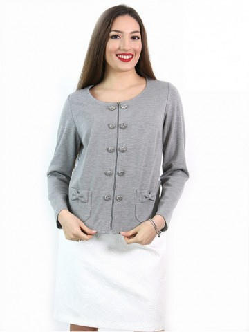 Grey jacket with fancy lace back