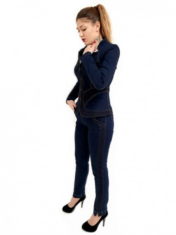 Womens jeans trouser Denim with dots