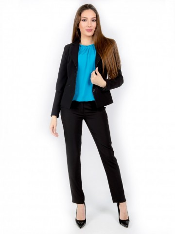 Womens black office trouser - Ester