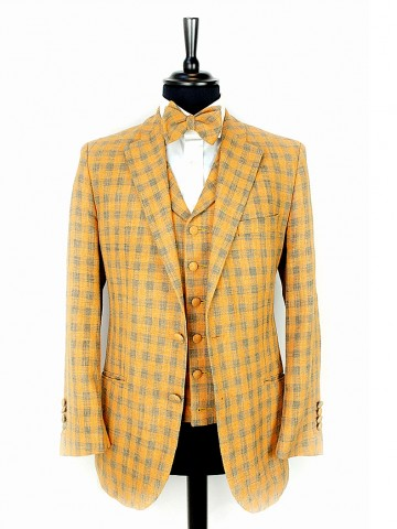 Orange checked jacket