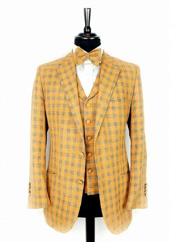 Orange checked jacket