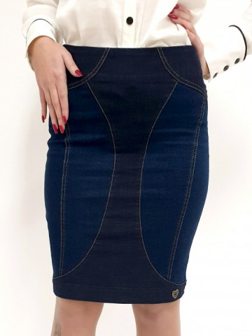 Womens jeans skirt with dots