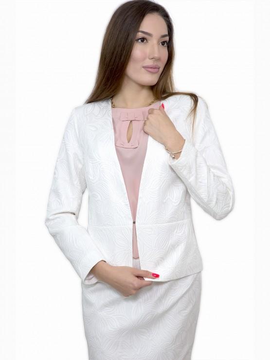 White women's jacquard jacket