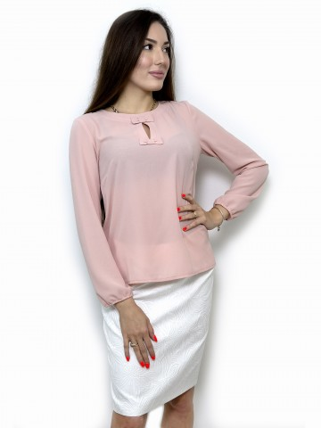 Women's blouse with long sleeves rose ash color