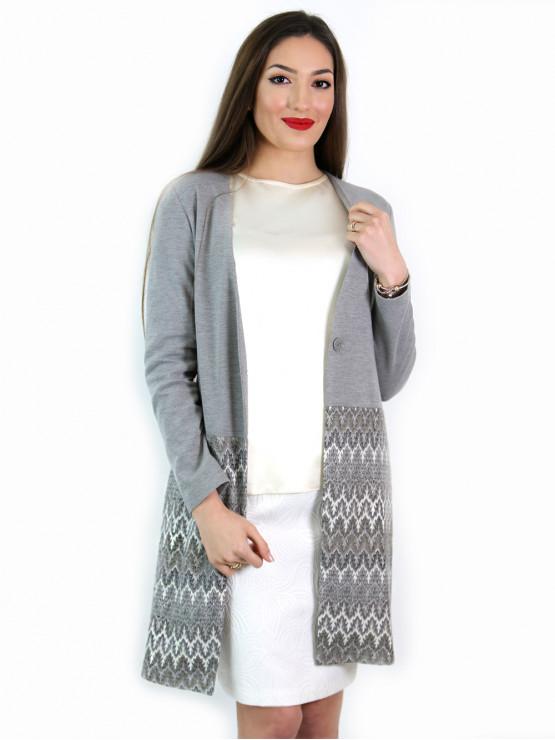 Womens fancy coat in grey